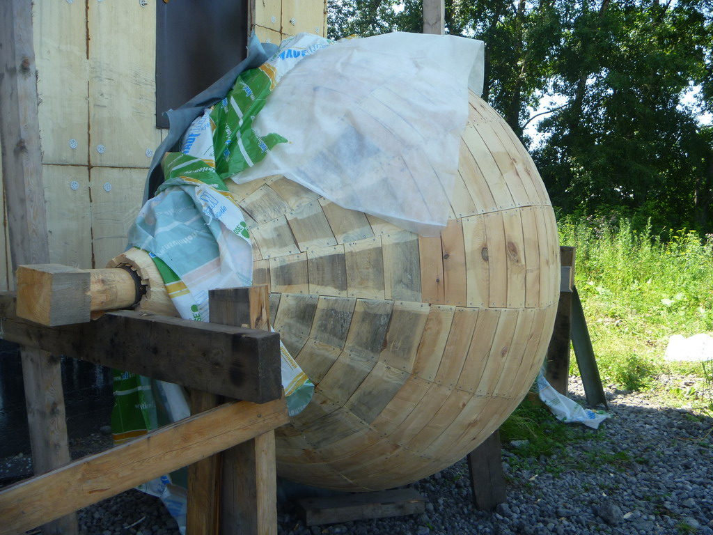 Главка, которая будет покрыта лемехами. 18.07.2011